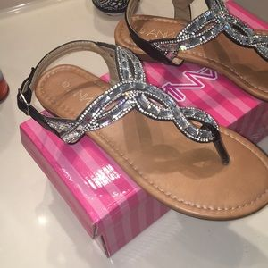 ANNA brand jeweled sandals